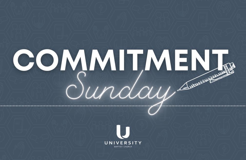 Commitment Sunday
